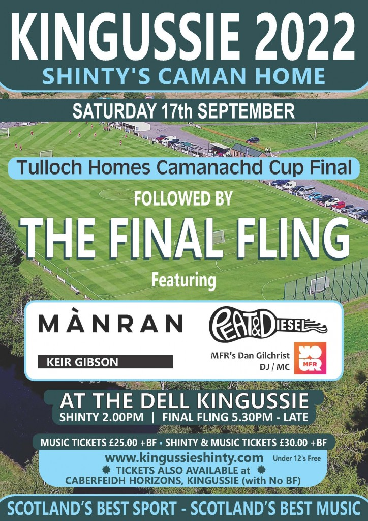 Poster for cup final and final fling 2022